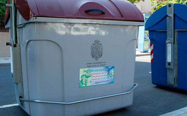 Contenedores de basura Santa Cruz