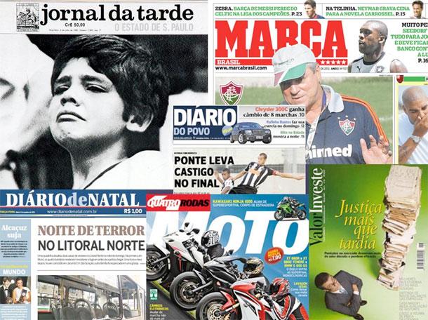 Cabeceras de las publicaciones cerradas en Brasil durante 2012