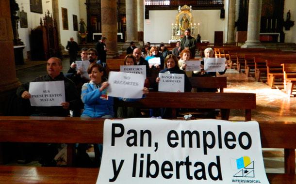 Encierro de Intersindical en La Concepción