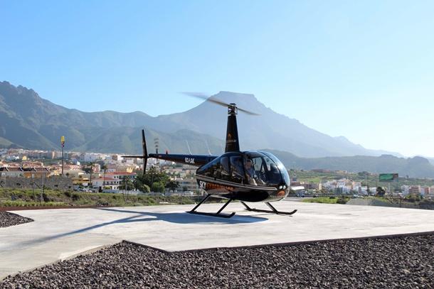 helipuerto de Adeje helicoptero Sky Experience