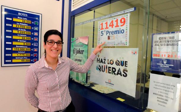 Lotería Navidad 2012 - Quinto premio en La Laguna