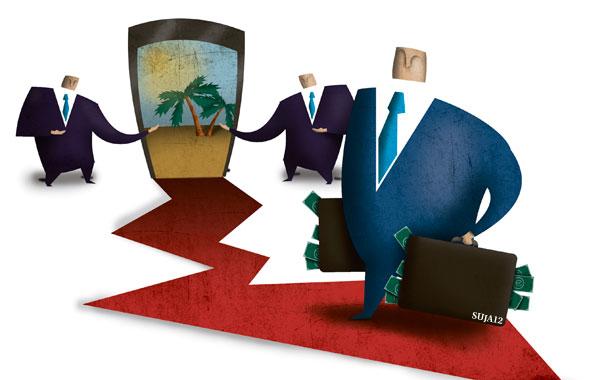 Rumbo al paraíso (fiscal) - Ilustración: SUJA12