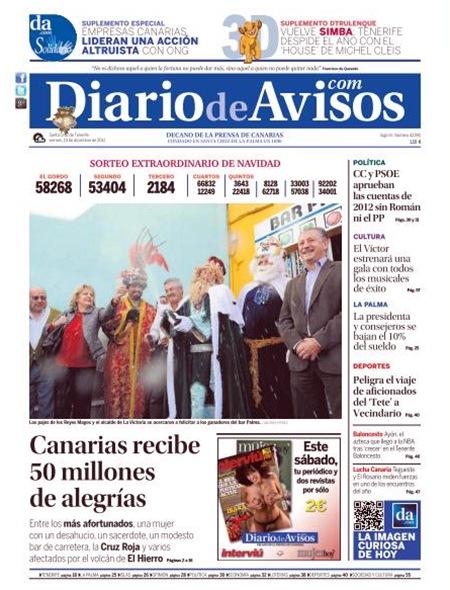portada diario 23 diciembre 2011