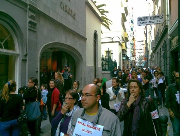 protesta empleados publicos