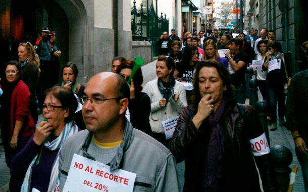 Protesta empleados públicos Cámara autonómica