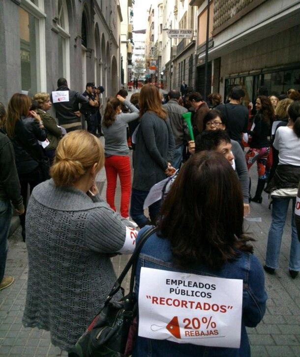 protesta trabajadores de la Administracion pública canaria