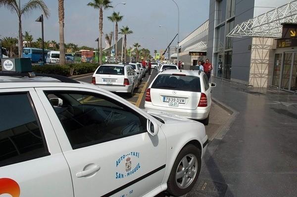 taxis aeropuerto del Sur