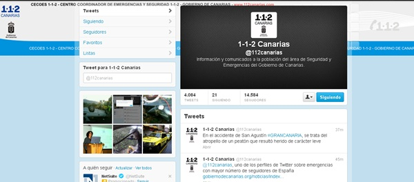 twitter 112 canarias
