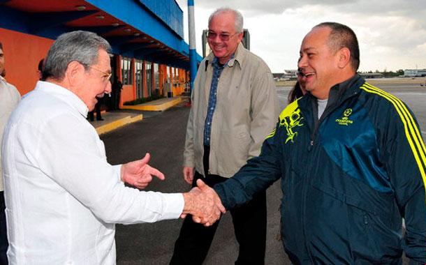 Diosdado Cabello, Rafael Ramírez y Raúl Castro
