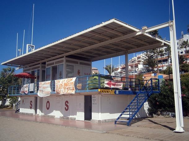 Los socorristas de Arona están en huelga desde el 9 de noviembre. / DA
