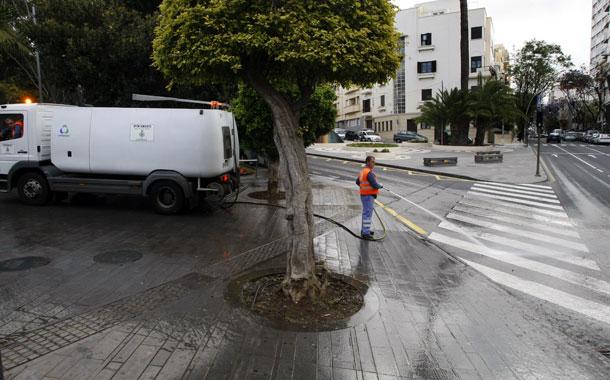 Limpieza parques Santa Cruz de Tenerife