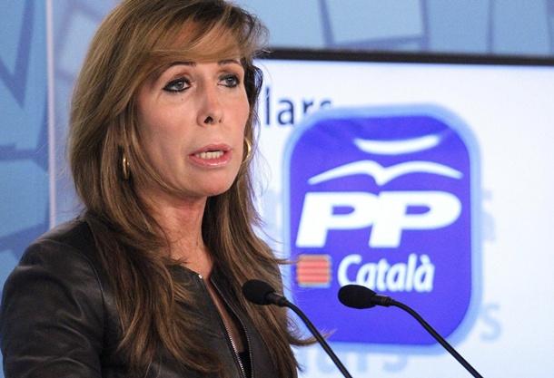 La presidenta del PP de Cataluña, Alicia Sánchez-Camacho.   DA