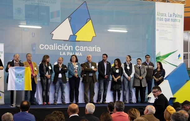 Clausura del congreso de CC en La Palma y celebrado en enero. / DA