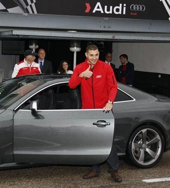 El delantero del Real Madrid, Karim Benzema, en un acto de promoción de Audi. | E.P.