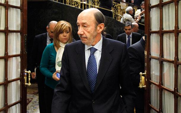 Alfredo Pérez Rubalcaba y Elena Valenciano