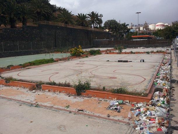 Antiguas instalaciones del club de pádel Playtime Tenerife. | J.S.