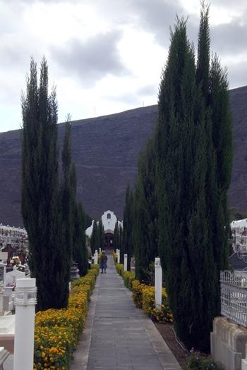 El cementerio güimarero estará vigilado día y noche. /  DA