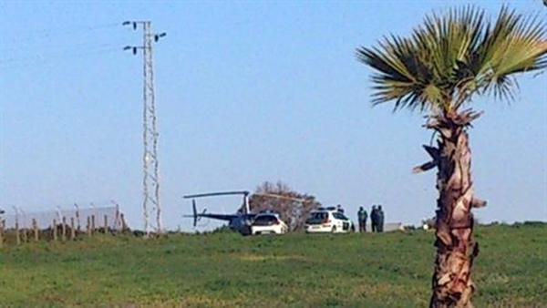 Helicóptero con droga interceptado por la Guardia Civil en el municipio sevillano de Pilas.   AYUNTAMIENTO DE PILAS