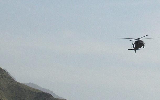 El tránsito de helicópteros militares en el valle de Güímar es habitual. / DA