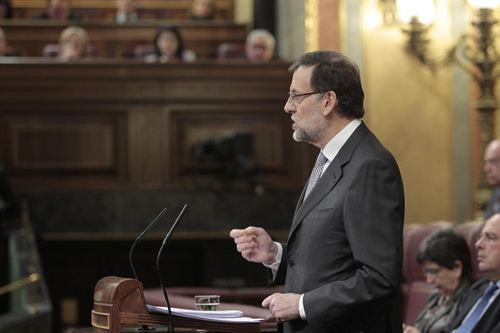 Mariano Rajoy, en su primer Debate del Estado de la Nación como presidente.