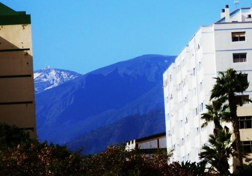 El Teide nevado, visto desde Ofra. / V.P.