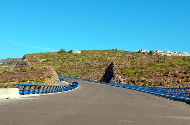 Obras de la carretera del cierre del anillo insular, en el Sur. | MOISÉS PÉREZ