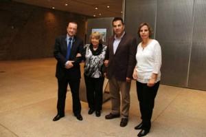 Vargas, Campo, Fraga y Mora, posan en el Magma Arte&Congresos.   DA