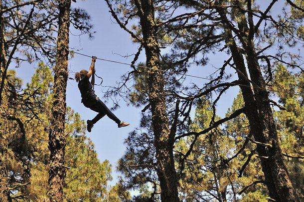 El parque de aventura en los árboles cumplió el pasado sábado su primer año de funcionamiento. / DA