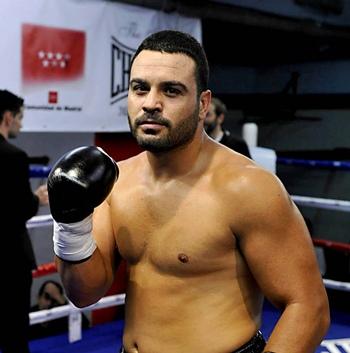 Ibrahim López, tras un combate. |  JUAN LUIS RECIO