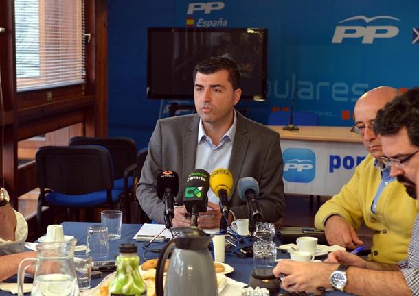 Manuel Domínguez durante el desayunto de trabajo con los medios. | M.P.