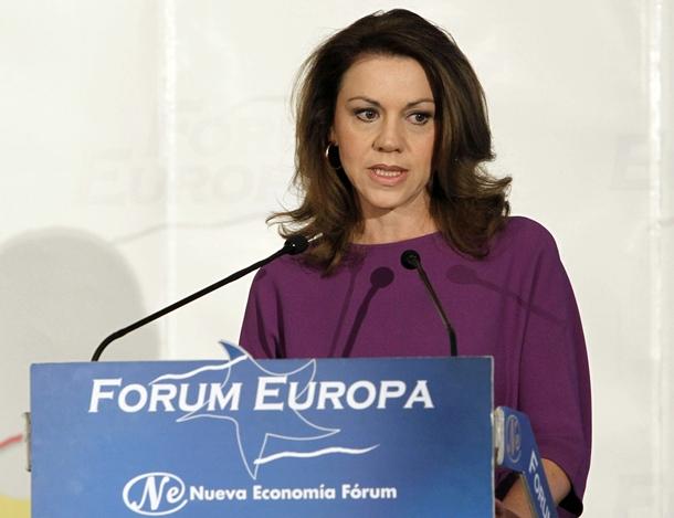 La secretaria general del PP y presidenta de Castilla-La Mancha, María Dolores de Cospedal.   EFE