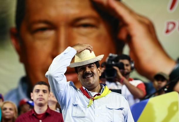 El presidente encargado de Venezuela, Nicolás Maduro, durante un acto político en la localidad de Margarita, Estado Nueva Esparta. / EFE