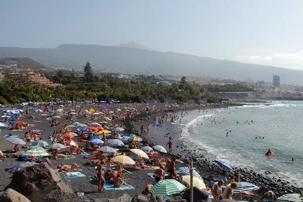 Playa Jardín, lugar idóneo para el baño. | M.P.