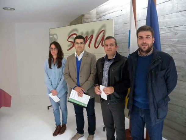Rodríguez, García, González y Díaz-Llanos presentaron el nuevo portal. | DA