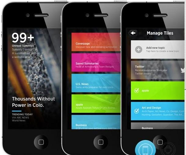 Imagen de la aplicación Summly adquirida por Yahoo!. | SUMMLY