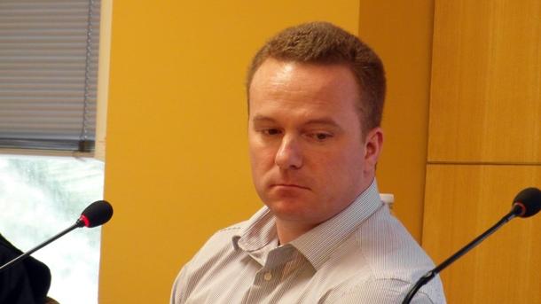 El acusado, D. M. J., ayer durante el juicio.   DA