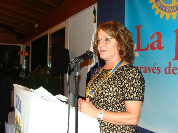La actual presidenta del Club Rotary Tenerife Sur, Carmen González Porcell, durante un acto. | DA