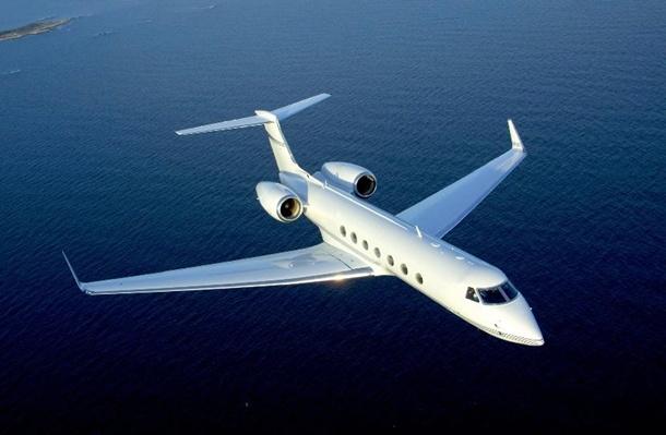 El avión que sufrió el percance es un Gulfstream como el de la imagen.   DA