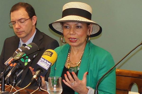 Embajadora ecuatoriana en España, Aminta Buenaño. | JAVIER GANIVET