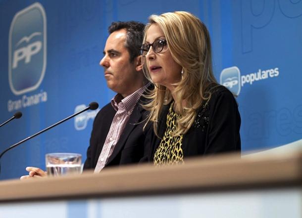 Australia Navarro y Jorge Blanco, ayer, durante la rueda de prensa. / EFE