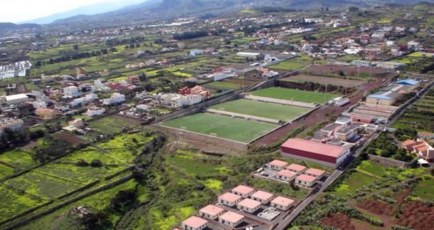 Vista aérea de la Ciudad Deportiva del Tenerife y alrededores, en la zona de Geneto. / MOISÉS PÉREZ