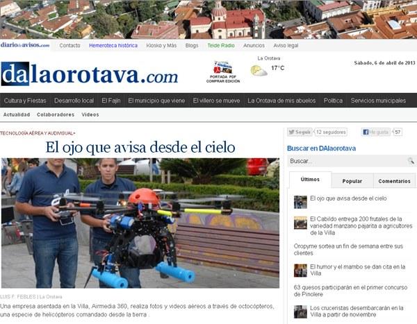 Captura de pantalla de DAlaorotava.   DA