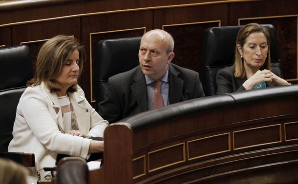 José Ignacio Wert, durante una sesión del Congreso. | DA