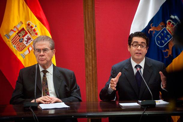 José Miguel González (CC) y Pedro Martín (PSC)