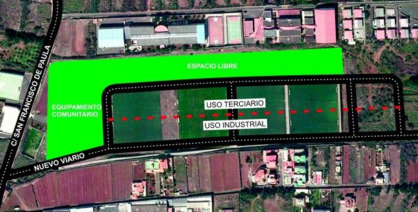 La nueva ordenación prevista para la zona por el Plan General de Ordenación (PGO) de La Laguna. / DA