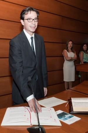 Imagen del magistrado Pedro Herrera en su toma de posesión como viceconsejero autonómico de Justicia. | J. G.