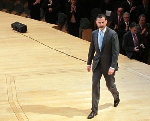 El Príncipe Felipe durante un acto. | E.P.
