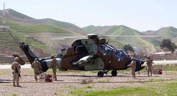 Un helicóptero Tigre del Ejército de Tierra español durante una misión en Afganistán. | MINISTERIO DE DEFENSA