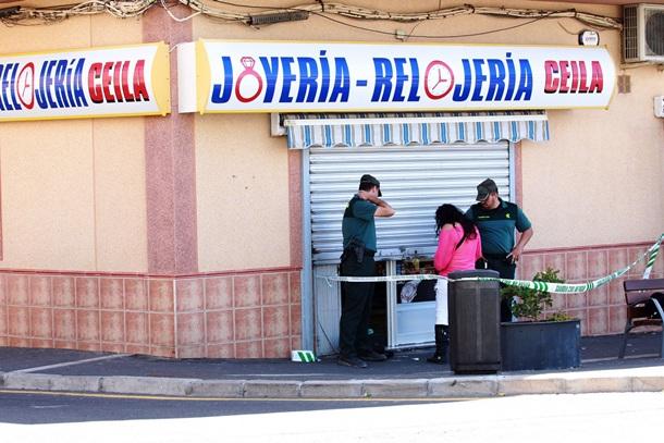 Varios encapuchados atracaron la joyería Celia en San Isidro. GERARD ZENOU