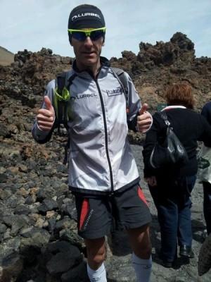 Eric Roc tras su llegada al Teide. | M. T.